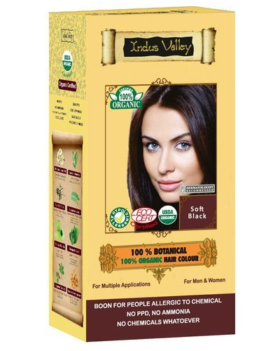 Organic Hair Color Soft Black, Natural Hair Color - FDRA Labs India ...