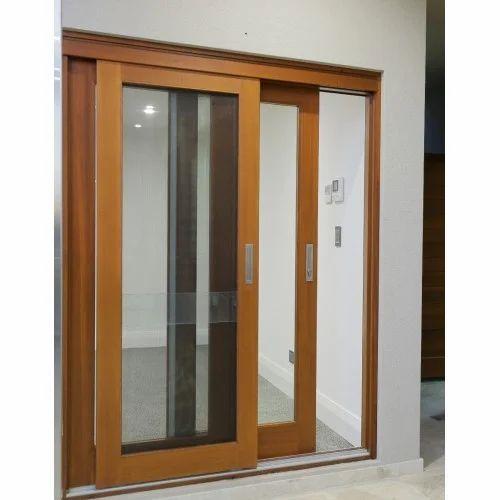 Wood Look Aluminium Sliding Door At Rs 400 Square Feet Aluminium