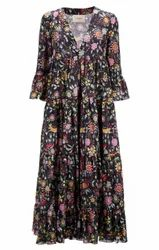 Half Sleeves Printed Ladies Dress, Gsm: 160, Machine Wash