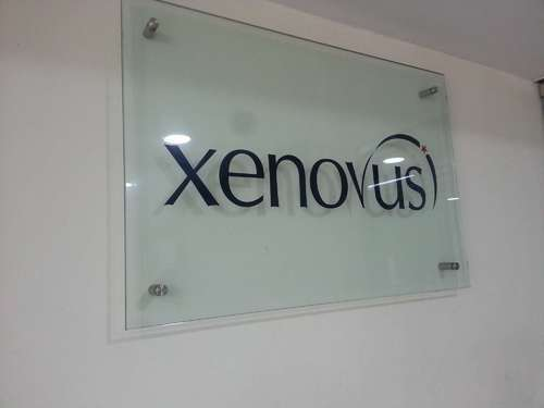 Rectangle Glossy Acrylic Laser Cut Sign Board For