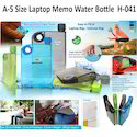 A-5 Size Laptop Memo Water Bottle H-041