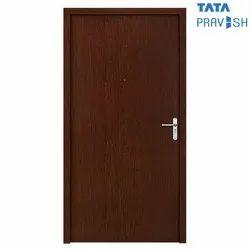 Tata Pravesh Coral Plain Wood Finish Single Leaf Residential Steel Door