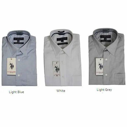 US POLO Plain Premium Cotton Shirt