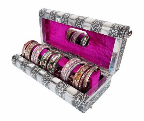 Antique Look Wooden Handmade 1 Roll Bangle Box Bracelet