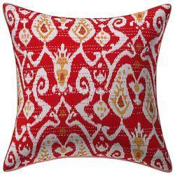 Ikat Kantha Printed Affordable Cushion Cover Pillow Cover