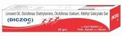 Linseed Oil(BP), Diclofenac Diethylamine(BP), Diclofenac Sodium, Methyl Salicylate, Menthol Cream