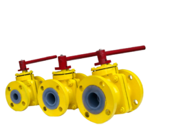 Radiant PFA Lined Ball Valve, Size: 1 Inch-12 Inch