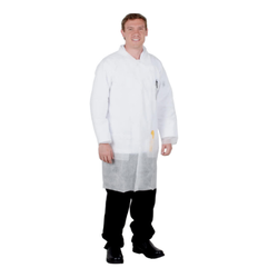 White Non Woven Disposable Coat, Size: Small, Medium, Large