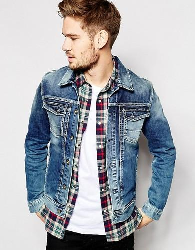 detailed look 0622b a9aa4 Mens Faded Denim Jacket