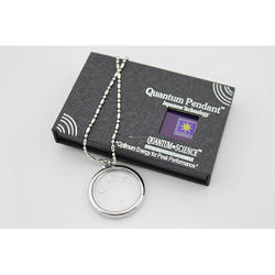 Scalar Energy Pendent Box And Card with Diamond