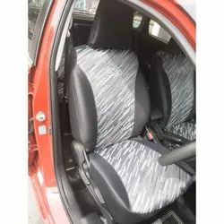 Club Class Black and Grey Fabric Car Seat Cover