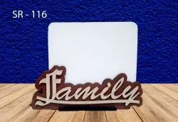 Wooden Brown family photo frame, For Gift
