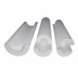 White Semi-Circular Thermocol Pipe Section
