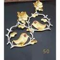 Yc Hanging Designer Brass Ear Rings