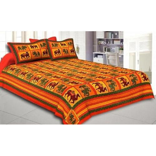 6fd670638c Multicolor Jaipuri Printed Cotton Double Bed Sheet, Rs 400 /set | ID ...