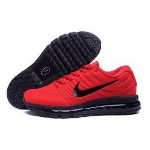 official photos b5266 ecd30 Red and Black Nike Air Max 2017 Red Black The Air Cushion Shoes, Size