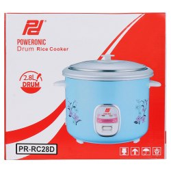 2.8 Litre Poweronic Drum Rice Cooker, For Home,Restaurant