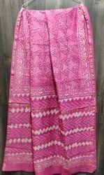 Bagru Hand Block Printed Chanderi Silk Saree