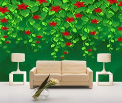 Rangoli Greenry Digital Wall Painting, for Home Decor