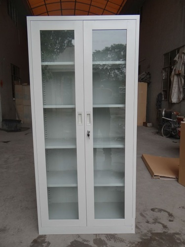 Steel Storage Furniture Glass Door Almirah Manufacturer