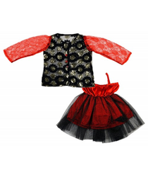 Red And Black Baby Girl Floral Skirt Soft Dress