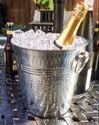 Stainless Steel Metal Hammered Wine Champagne Cooler Holder Party Ice Bucket