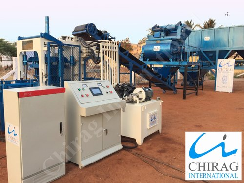 Solid Chirag Interlocking Block Making Machine, Capacity: 1000-1500 Piece per hour