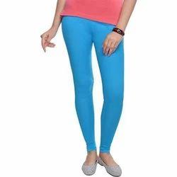 Blue Cotton Ladies Lycra Legging