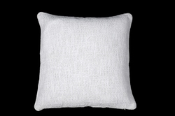 White Lurex Cushion Cover
