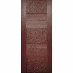 Brown Designer Skin Door, Matte, Size/Dimension: 7 X 4 Feet