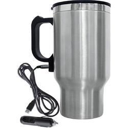 Silver Stainless Steel Electric Mug, Packaging Type: Box, 200 ml