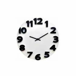 Black And White Round Clock