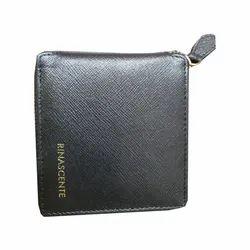 Black Saffiano Italian Leather Wallet