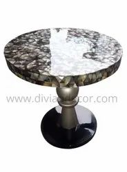 Sea Shell Inlay Mosaic Glistening Coffee Table