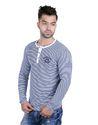Fashionable Men Full Sleeve Henley Neck T-Shirt