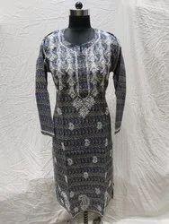 Party Wear Regular Ladies Cotton Print Handmade Kurti