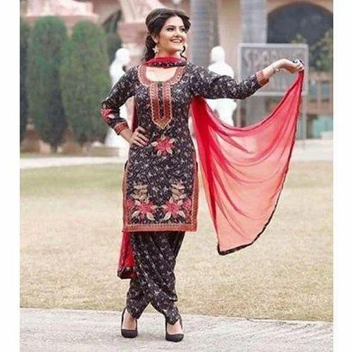 ffd90161e9 Party Wear 5 Meter Ladies Punjabi Suit, Rs 750 /piece, Gupta Karyana ...