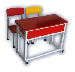 Wooden Mild Steel School Desk-Bench
