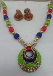 Mukti Colot Silk Thread Necklace Set