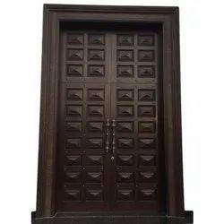 Dark Brown Wooden Interior Door, Size/Dimension: 9x3 feet