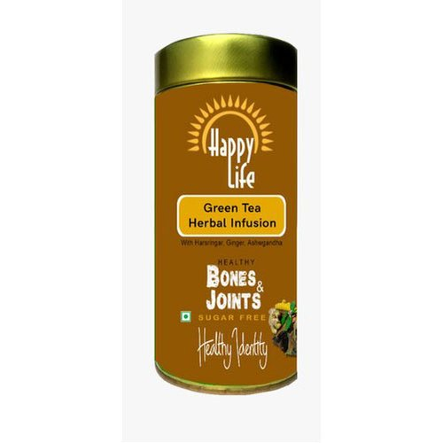 Happy Life Bones and Joints Herbal Infusion Green Tea, Packaging Size: 100 G
