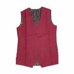Cotton Men Waiter Waist coat, Size: Free size