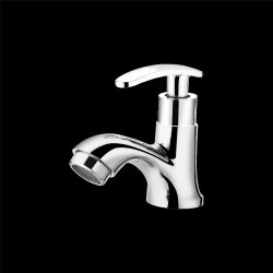 Fallon Bath Silver Brass Curve Pillar Water Cock