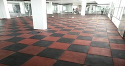Indoor Rubber Flooring Tiles