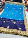 Pure chiffon Gota Patti Work Saree