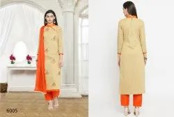 Designer Chanderi Cotton Salwar suit
