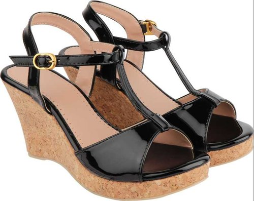 Women Black Wedges Sandal Footwear