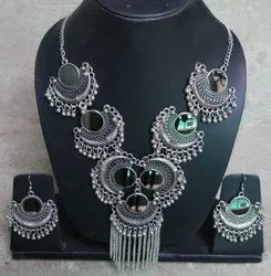 NK Handmade New Bali Necklace Set Silver