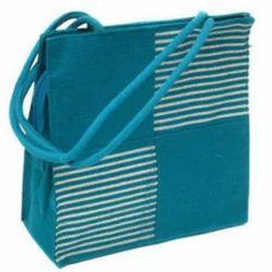 Blue Jute Tote Bag