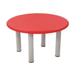 Red Round Plastic Table